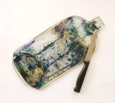 Flat bottle cheeseboard with knife genuine bottle by KilnFiredArt, £18.00