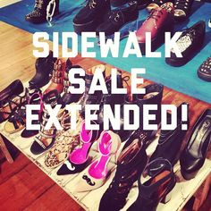 Stomp on over to our Ridgewood NJ boutique & stock up on shoes while our sidewalk sale is EXTENDED until Saturday the 10th!! If you didn't get to come by this past weekend, you HAVE to now!! See you Gypsy Warriors there!