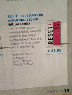 Super, het nieuwe boek 'RESET!' van Erik Jan Koedijk in de maart editie van Managementboek Magazine. #reset #erikjankoedijk #futurouitgevers