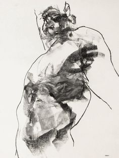 Expressive Male Figure Drawing - 18 fine art - Drawing 145 - charcoal on paper - original drawing by Derek Overfield Art. Male Figure Drawing, Fine Art Drawing, Figure Sketching, Guy Drawing, Life Drawing, Drawing People, Drawing Sketches, Art Drawings, Art And Illustration