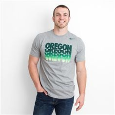 Heather Grey Nike Oregon Hyper Repeat Logo Tee