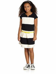DKNY - Girl's Striped Dress - Saks.com