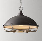 $149 Industrial Caged Pendant-laundry room