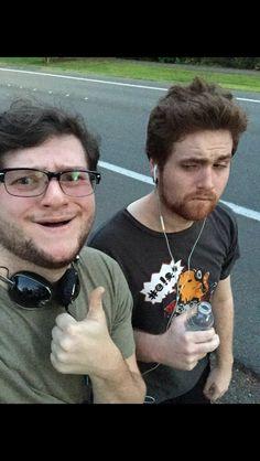 Max and Adam went for a run cute! #MadMaxDoesNotExsistHeJustGetsALittleAnnoyed