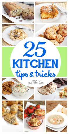 25 kitchen tip and tricks |How to Nest for Less -  Featured on #HomeMattersParty 99