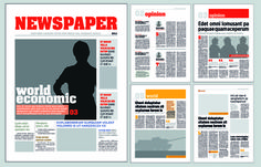 Typesetting newspaper vector templates 02