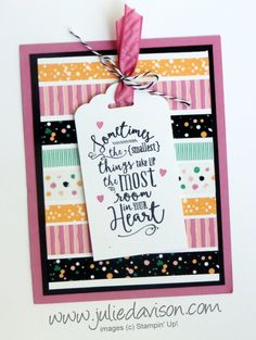 Splitcoaststampers FOOGallery - Layering Love Playful Palette Washi Tape Tag Card