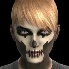 scary boys face painting face paint www halloween face painting zombie face - Zombie Halloween Faces