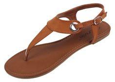 Amazon.com: Womens Roman Gladiator Sandals Flats Thongs W/Buckle 4 Colors: Shoes