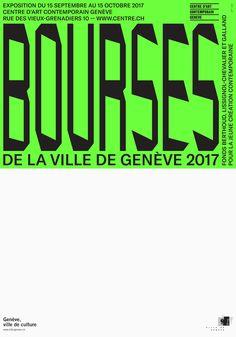 Bourses de la Ville de Genève, F4 poster, 2017 - AMI – graphisme, graphic design, Grafikdesign, grafica