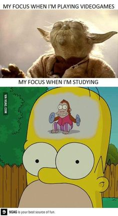 My focus on videogames and studying