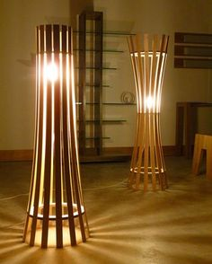 Inspirations Magnificent Floor Lamp Design For Your Ideas Stylish Floor Lamp Designs From Wooden Material Diy Floor Lamp, Tall Floor Lamps, Wooden Floor Lamps, Unusual Table Lamps, Unique Floor Lamps, Cool Lamps, Cheap Lamps, Lampe Art Deco, Bamboo Light