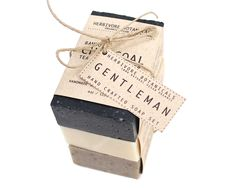 Organic Man Soap Set. Handmade Vegan 100% Natural Cold Process Soap via Etsy.