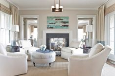 House of Turquoise: Eric Roseff Designs. Love the four chair instead of the typical sofa!