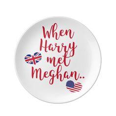 When Harry met Meghan Fun Royal Wedding Paper Plate , Party Plates, Party Tableware, Royal Wedding Prince Harry, Fun Royal, Wedding Dinner Plates, Fun Cup, Prince Harry And Meghan, Princess Meghan, Kitchen Gifts