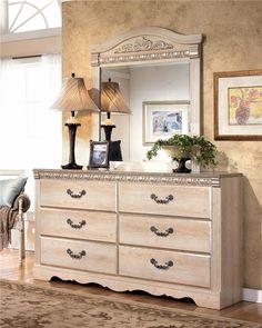 Silverglade Six Drawer Dresser And Mirror By Signature Design By Ashley    Lapeer Furniture U0026 Mattress