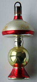 Vintage glass Christmas ornament. Belgium.