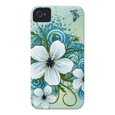 Summer Blue Floral  Butterflies iPhone 4 Covers $39.95