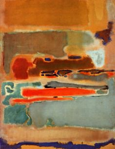 Een werk van Mark Rothko in wat koudere kleuren en in vloeiendere lijnen.                                                                                                                                                     More