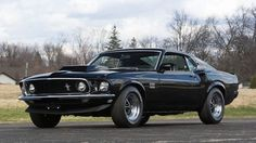 1969 Ford Mustang Boss 429 Fastback presented as Lot at Indianapolis, IN - Today Pin Ford Mustang Boss, Mustang Cobra, Mustang Fastback, Black Mustang, Shelby Gt500, Car Ford, Ford Gt, Ford Trucks, 4x4 Trucks