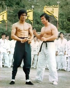 Bruce Lee and Bolo from Enter the Dragon