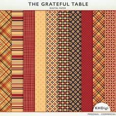 The Grateful Table - Freebie Digital Paper from KHDigi.