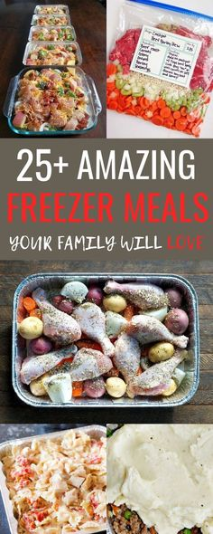 I love this list of easy freezer meals! It's of the BEST freezer meals to prep ahead of time and make busy weeknights super easy! These meals are SO much better than anything we could get for takeout not to mention the cost savings! Make Ahead Freezer Meals, Healthy Freezer Meals, Freezer Cooking, Cooking Time, Cooking 101, Freezer Friendly Meals, Best Meals To Freeze, Freezer Dinner, Cooking Classes