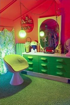 This is a seriously 70's room.