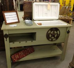 Rustic Cooler Table Fall FOOTBALL Outdoor Bar by RusticWoodWorX