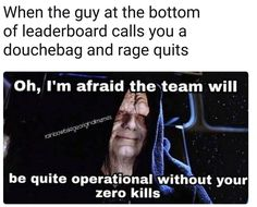 yeah, sorry, luv. bai. getcha nonfunctional butt offa my team.