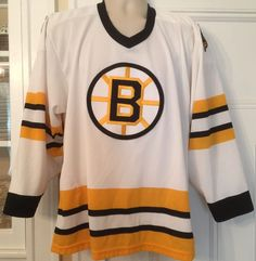Boston Bruins Away Road Jersey Spoked B Mens M CCM Maska Made in USA  Polyester  CCMMaska  BostonBruins a43651d78