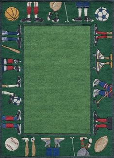 Momeni Rugs LMOJULMJ-9GRS5070 Lil' Mo Whimsy Collection, Kids Themed Hand Carved & Tufted Area Rug, 5' x 7', Grass Green