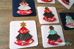 Χριστουγεννιάτικες κάρτες με θήκες για cupcakes