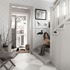Real Estate Agents and Home Design & Decoration services by House of Valentina will turn your House into a Sellable Home! Painted Wood Floors, Vibeke Design, Interiores Design, Cottage Style, Swedish Cottage, Scandinavian Design, My Dream Home, Interior Inspiration, Beautiful Homes
