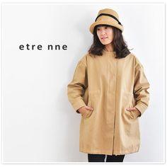【etre nne エトレンヌ】高密度 コットン ウエスト 裾 絞り ノーカラー コート(1103526)レディース ファッション 春 夏 春コーデ