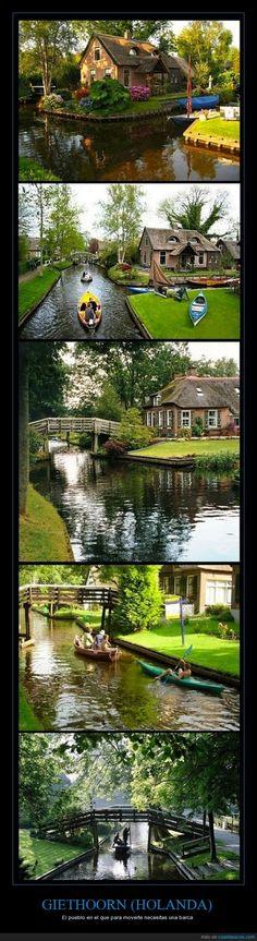 GIETHOORN (HOLANDA) - El pueblo en el que para moverte necesitas una barca