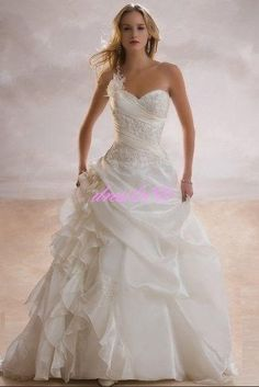 Simple A-Line Sweetheart wedding dress