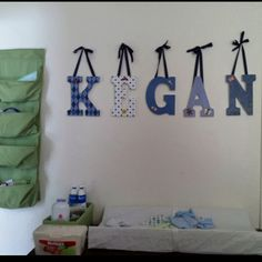 Baby boy nursery letters! So fun to make!!!