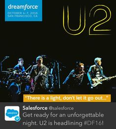 #Dreamfest & #UCSF Benefit featuring @U2 & other special guests at @cowpalacesf via @salesforce #U2 #U240 #U2SOE?