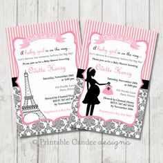 Diaper shower invitation french paris inspired baby diaper die cut diaper shower invitation french paris inspired baby diaper die cut baby shower invitation other metallic card stock colors are available card stock filmwisefo