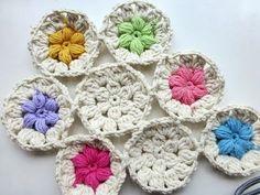 Adventskalender * 8. Dezember 2012 * Häkeln Blumen im Schnee, My Crafts and DIY Projects