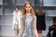"Nothing says ""festive"" quite like a sparkly frock. For fall, designers went all out, plastering paillettes over dresses and slathering sequins over separates to create a glittering arra…"