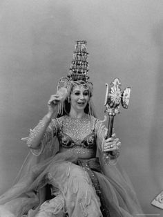 """Opera Singer Beverly Sills, Wearing Her Costume for the Role of Queen Shemakha in """"Le Coq D'Or"""""""