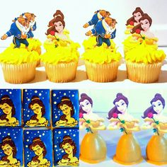 Beauty and the Beast Treats. Cookies, Cake Pops, Cupcakes. Princess Bell