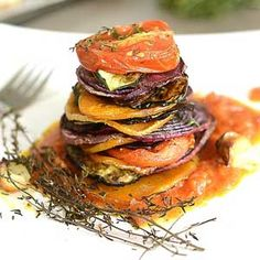 Roasted Vegetables with Thyme & Tomato Recipe — Chef Mike Ward Easy Delicious Recipes, Tasty, Yummy Food, Healthy Recipes, Roasted Vegetable Recipes, Roasted Vegetables, Healthy Dinners For Two, Vegan Roast, Ethnic Recipes