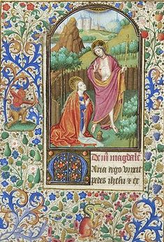 Book of Hours, MS fol. - Images from Medieval and Renaissance Manuscripts Medieval, Noli Me Tangere, Book Of Hours, Illuminated Manuscript, Hand Coloring, Middle Ages, Madonna, Renaissance, Egypt
