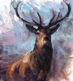 Stag Head - Image size 50 x - Oil on Canvas - Jonathan Shearer Stag Head, All Art, Interior Styling, Creative Art, Oil On Canvas, Moose Art, My Arts, Artsy, Elk