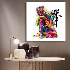 Colorful Buddha Wall Art Decoration