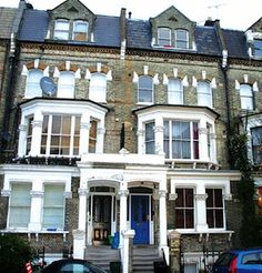 Will and Harmony live in the garden flat of a block like this between West Kensington and Baron's Court.