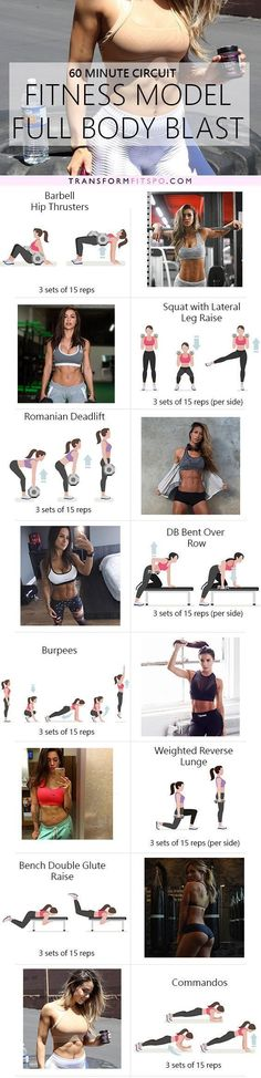 The favorite exercises from Instagram's top fitness models in one killer circuit. Repin and share if you enjoyed it!